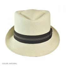 Panama Straw Diamond Crown Fedora Hat in