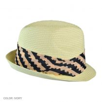 Genie by Edie with Geometric Hatband Fedora Hat