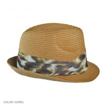 Genie by Edie with Leopard Hatband Fedora Hat