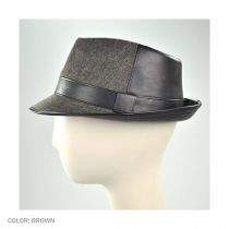 Wool and Pleather Fedora Hat