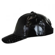 Metallic Stud Adjustable Baseball Cap in