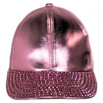 Metallic Stud Adjustable Baseball Cap alternate view 2