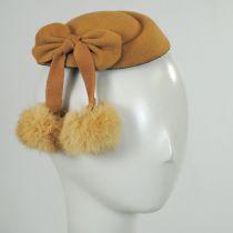 Angora Pom Pillbox Fascinator Hat in