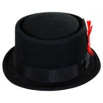 Wool Felt Pork Pie Hat in