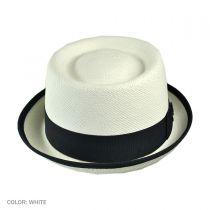Grade 3 Panama Straw Pork Pie Hat in