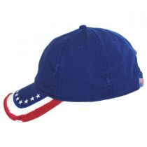 Stars and Stripes Distressed Adjustable Baseball Cap in