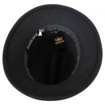 Sophia Wool Felt Down Brim Fedora Hat in