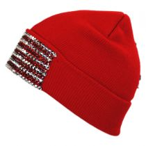 USA Flag Stud Knit Beanie Hat alternate view 3