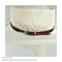 Whipstitch Buckle Leather Hat Band