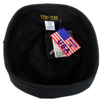 Six Panel Canvas Skull Cap Beanie Hat in