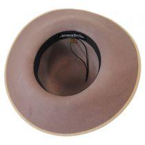 El Dorado Wool Felt Open Crown Fedora Hat in