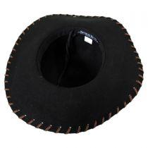 Anvi Whipstitch Wool Felt Floppy Hat in