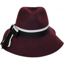 Jillian Wool Felt Downbrim Fedora Hat in