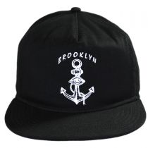 Dead Anchor Leather Strapback Baseball Cap in