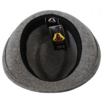 Detroit Wool Felt Trilby Fedora Hat - Flannel in