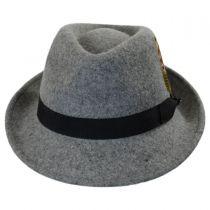 Detroit Flannel Wool Felt Trilby Fedora Hat alternate view 2