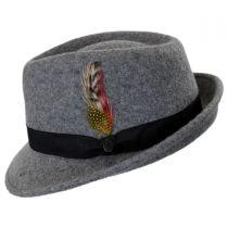 Detroit Flannel Wool Felt Trilby Fedora Hat alternate view 3