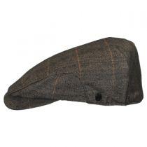 Hoxton Herringbone Plaid Wool Blend Ivy Cap