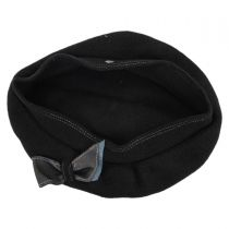 Colette Wool Beret with Storage Pouch in
