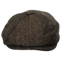 Devon Herringbone Wool Newsboy in