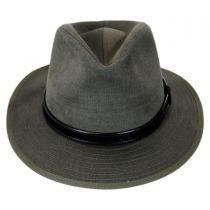 Aspen Italian Cotton Canvas Safari Fedora Hat alternate view 2