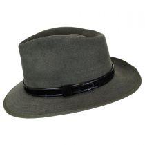 Aspen Italian Cotton Canvas Safari Fedora Hat alternate view 3