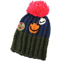 Kids' Smiley Pom Knit Beanie Hat alternate view 2
