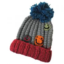 Kids' Smiley Pom Knit Beanie Hat alternate view 4