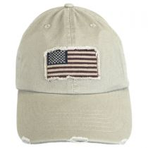 Distressed USA Flag Strapback Baseball Cap Dad Hat in
