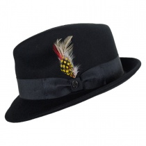 Blues Crushable Wool Felt Trilby Fedora Hat alternate view 3