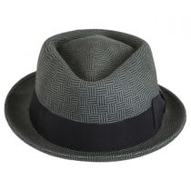 Dev Wool Felt Diamond Crown Fedora Hat alternate view 2