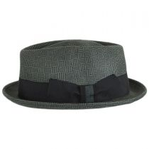 Dev Wool Felt Diamond Crown Fedora Hat in