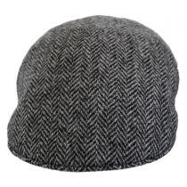 Herringbone Harris Tweed Wool Ascot Cap in