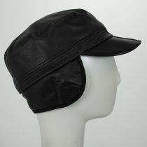 Clarke Earflap Italian Leather Cadet Cap alternate view 4