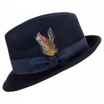 Blues Crushable Wool Felt Trilby Fedora Hat alternate view 26