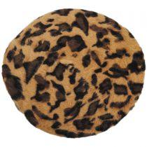 Cheetah Print Angora Beret in