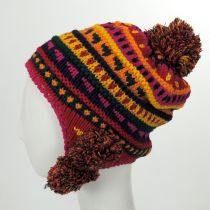 Kids' Pom Knit Trapper Beanie Hat in