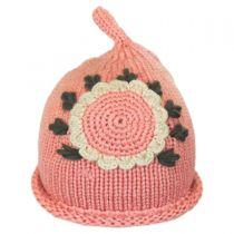 Kids' Sunflower Knit Beanie Hat in