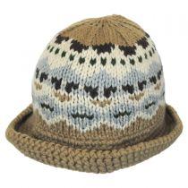 Fairisle Knit Bucket Hat in