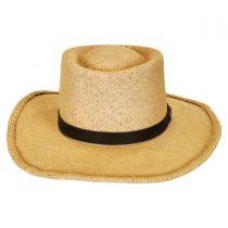 Twisted Panama Straw Gambler Hat in