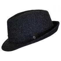 Herringbone Wool Trilby Fedora Hat in