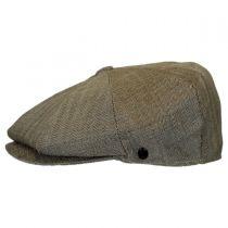 Mini Herringbone Wool Newsboy Cap in
