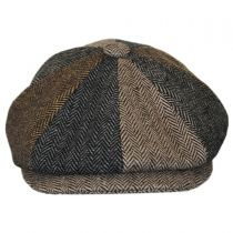 Herringbone Patchwork Wool Blend Newsboy Cap alternate view 2