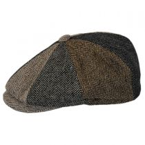 Herringbone Patchwork Wool Blend Newsboy Cap alternate view 3