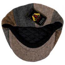 Herringbone Patchwork Wool Blend Newsboy Cap alternate view 4