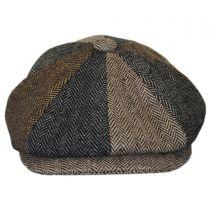 Herringbone Patchwork Wool Blend Newsboy Cap alternate view 6