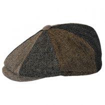 Baby Herringbone Patchwork Wool Blend Newsboy Cap in