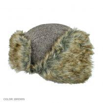 Herringbone Wool Blend Trapper Hat in