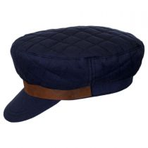 Bent Quilted Cotton Fiddler Cap in