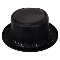 Folsom Leather Topper Hat in